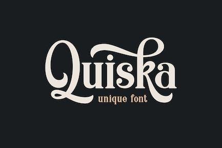 Quiska - Unique Fonts