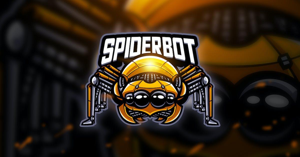 Spiderbot - Mascot & Esport Logo by aqrstudio