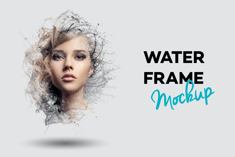 Water Frame Mockup [Free Download] Water Frame Mockup Photoshop