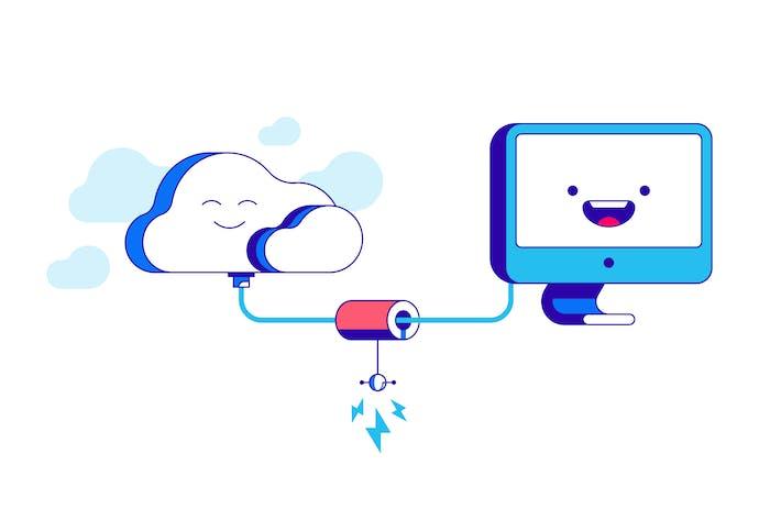 Cloud storage connection