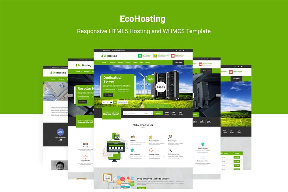 Download EcoHosting   Responsive Hosting & WHMCS Template by themelooks