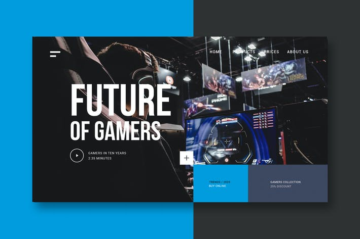 Thumbnail for Gamers & Technology - Landing Page