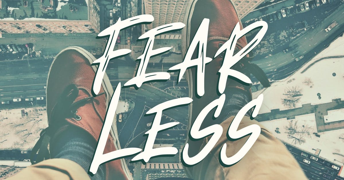 Download Fear Less Font by yandidesigns