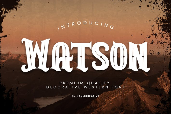 Thumbnail for Watson - Vintage Western Font