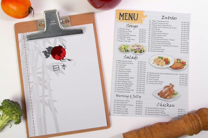 Thumbnail for Food Menu Mock Up