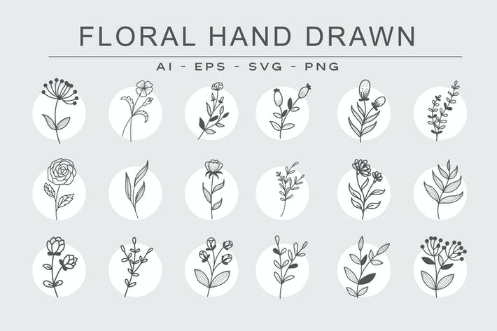 Thumbnail for FLORAL HANDDRAWN