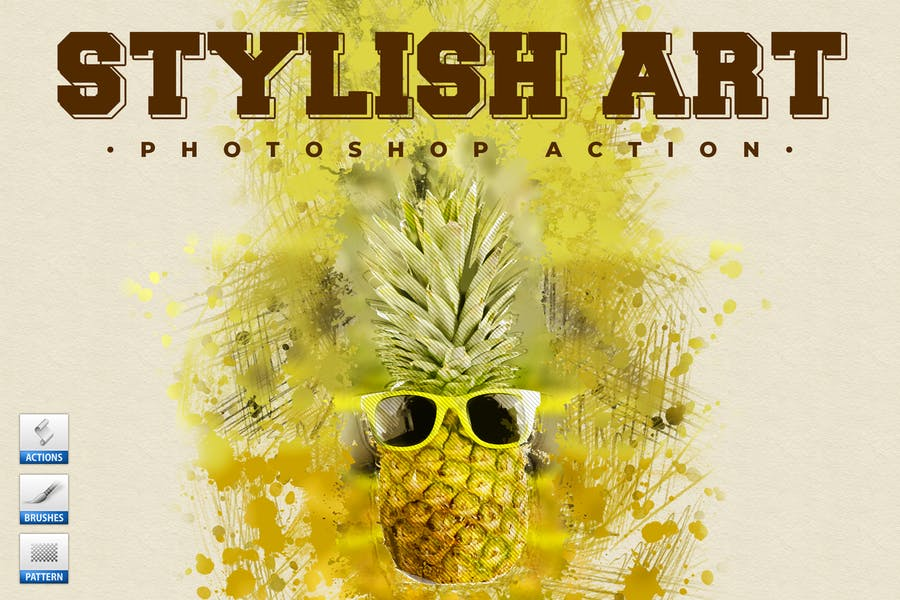 Stylish Art - Watercolor Photoshop Action