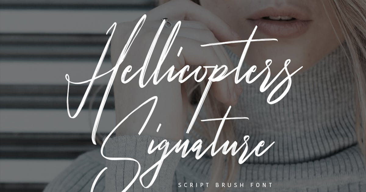Download Hellicopters Typeface by maulanacreative