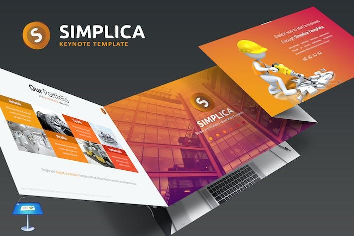 Thumbnail for Simplica Keynote Template