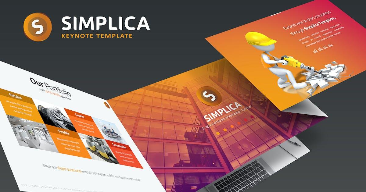 Download Simplica Keynote Template by inspirasign
