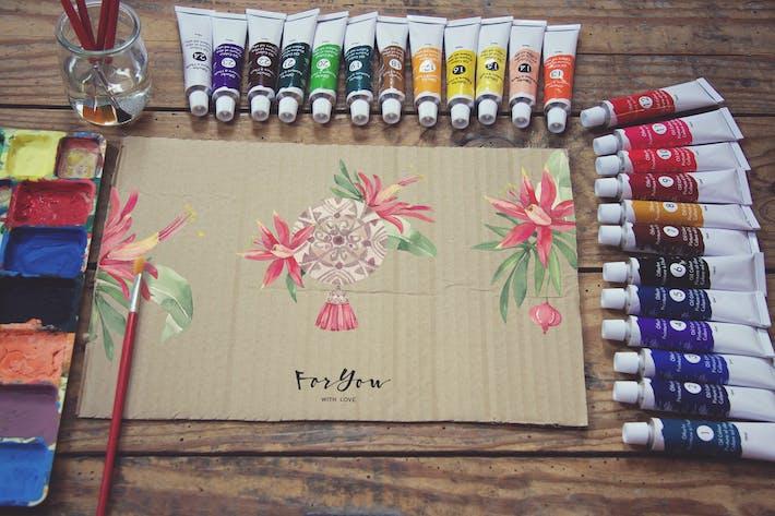 Thumbnail for Paperboard Paint Scene Desk