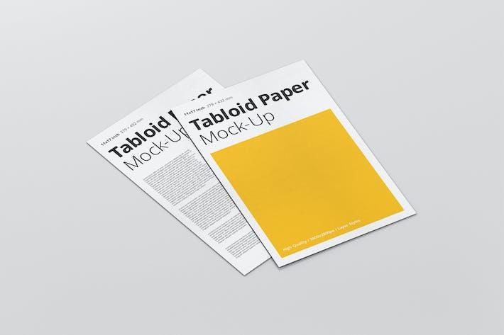 Thumbnail for Tabloid Paper Mockup - 11x17