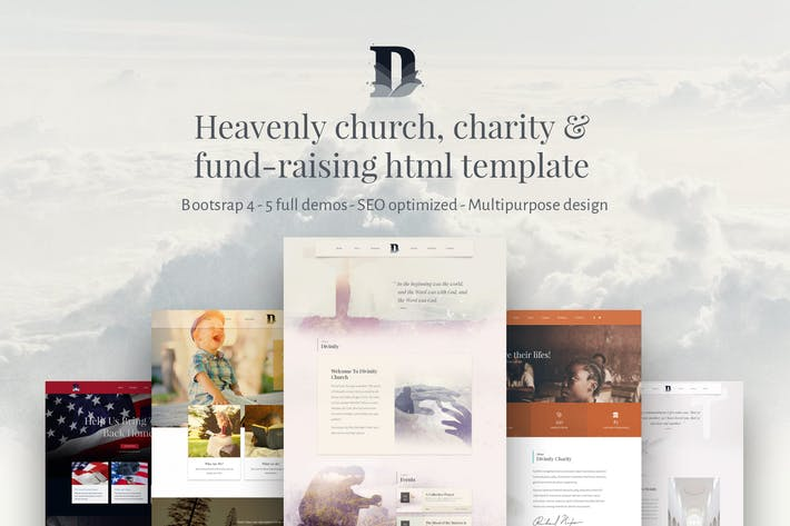 Thumbnail for Divinity, bootstrap 4 Church/Charity html template