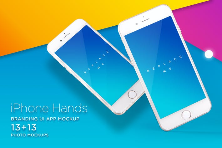 Thumbnail for iPhone Mock-up Brending Templates with Vivid Bcg's