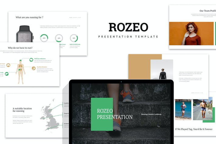 Thumbnail for Rozeo : Running Lifestyle Keynote