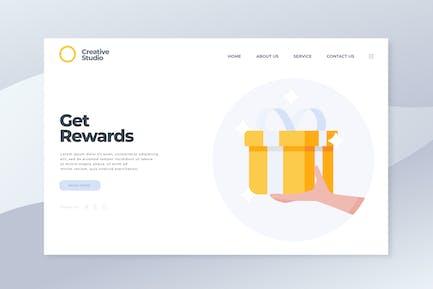 Belohnungen erhalten - Landing Page