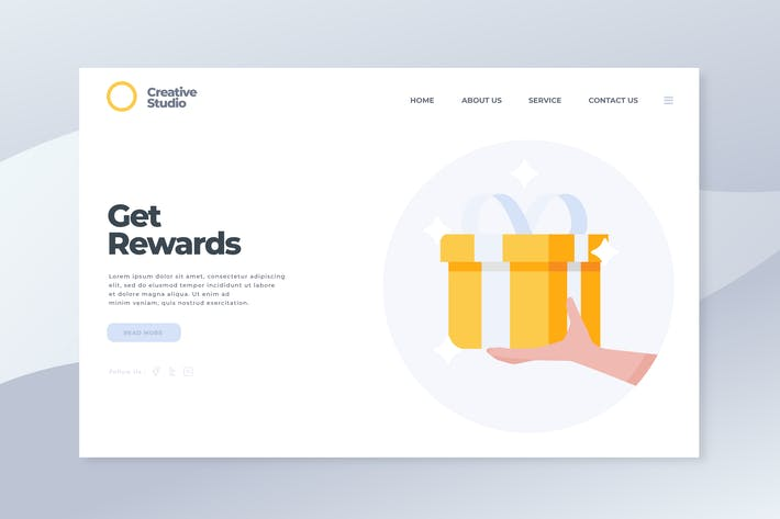 Thumbnail for Get Rewards - Landing Page