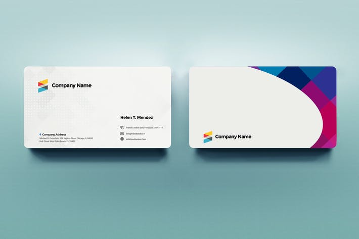 Thumbnail for Simple White Professional Business Card Template