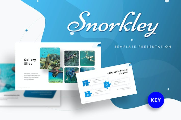 Thumbnail for Snorkley - Diving Keynote Template