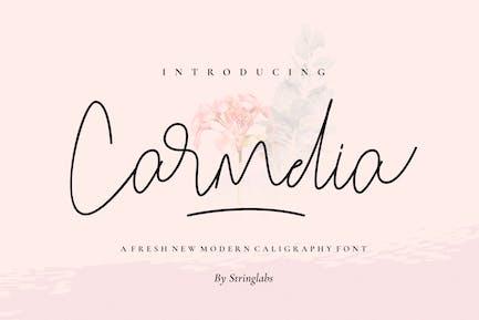 Carmelia - Modern Calligraphy Font