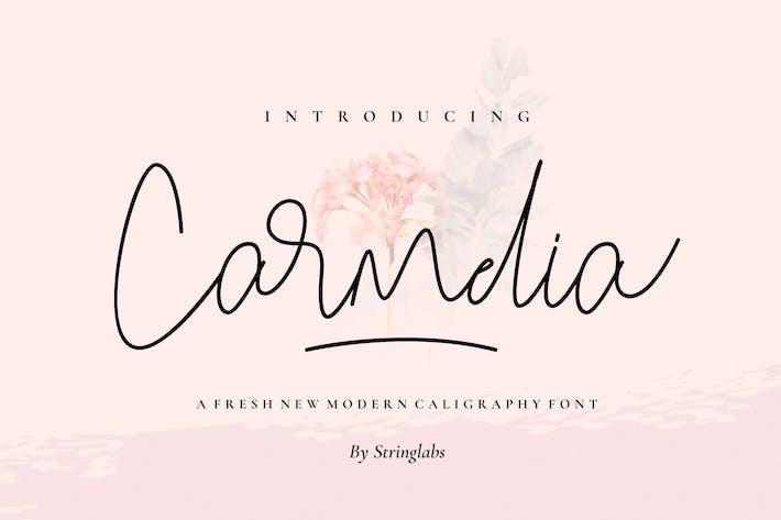 Thumbnail for Carmelia - Fuente de caligrafía moderna