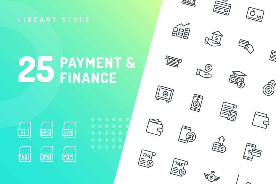 Payment & Finance Line Icons