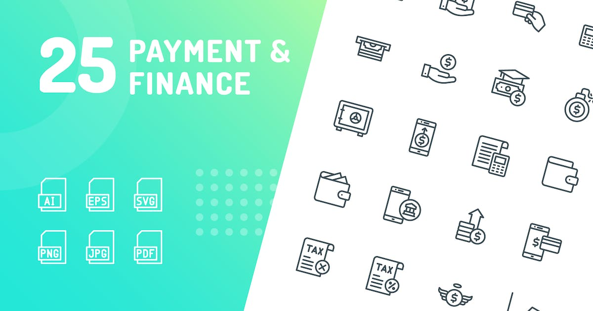 Download Payment & Finance Line Icons by kerismaker
