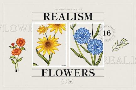 Realism Flower Illustration