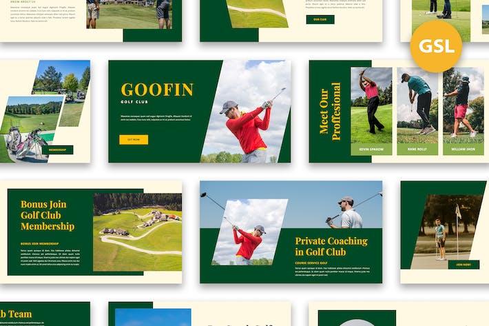 Гуфин - Гольф-клуб Google Слайды