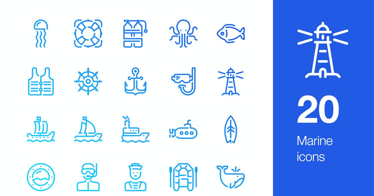 Download 20 Marine icons by Unknow