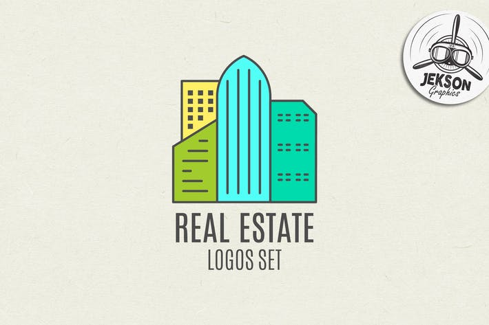 Thumbnail for Real Estate Logo Set. Line Art. Modern Emblems