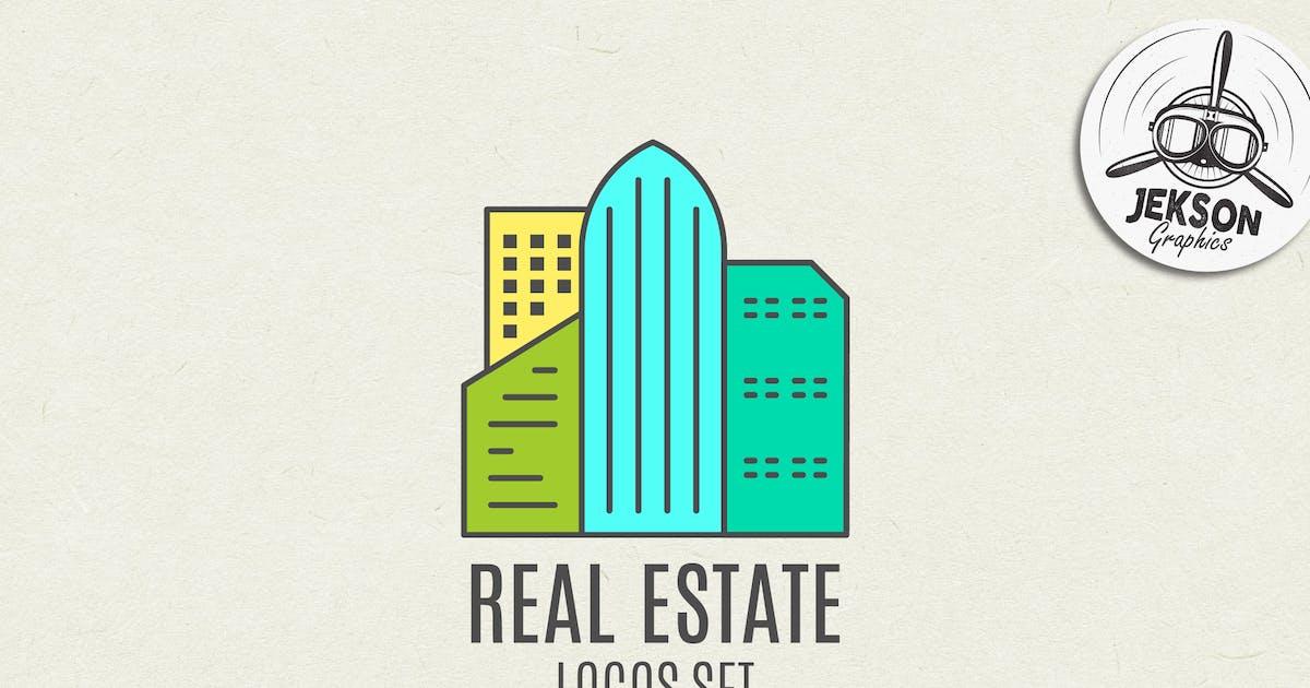 Download Real Estate Logo Set. Line Art. Modern Emblems by JeksonJS