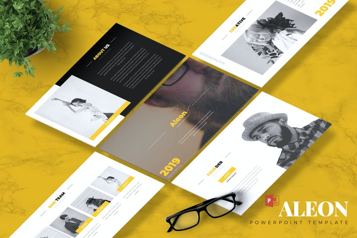 Cover Image For ALEON - Creative Powerpoint Template