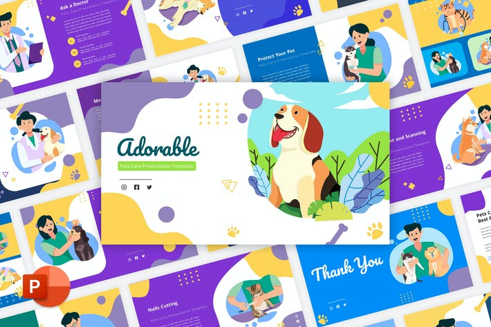Adorable - Pets Care PowerPoint Template