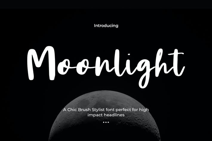 Cover Image For Moonlight - Script Font Duo
