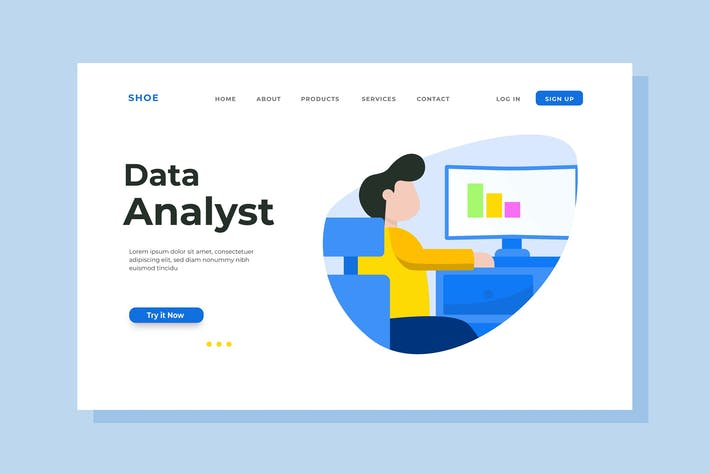 Thumbnail for Data Analyst Landing Page Illustration