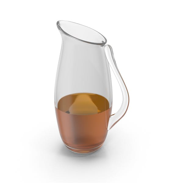 Glass Pitcher With Liquid