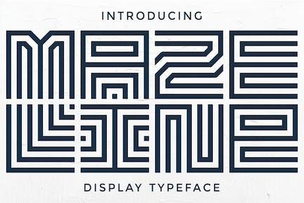 Maze Line - Unique Display Font