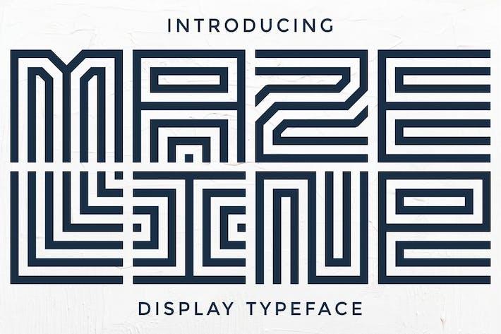 Thumbnail for Maze Line - Unique Display Font