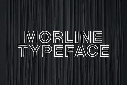 Morline Unique Outline Typeface