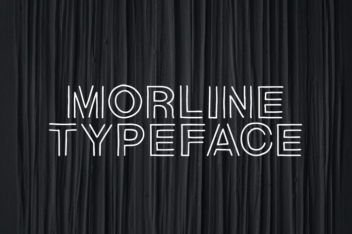 Thumbnail for Morline Unique Outline Typeface