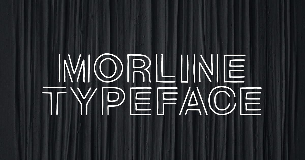 Download Morline Unique Outline Typeface by MartypeCo