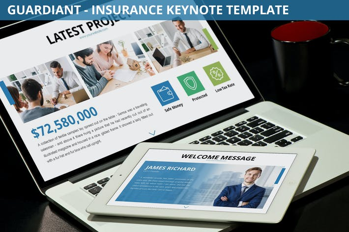 Thumbnail for Guardiant - Insurance Keynote Template
