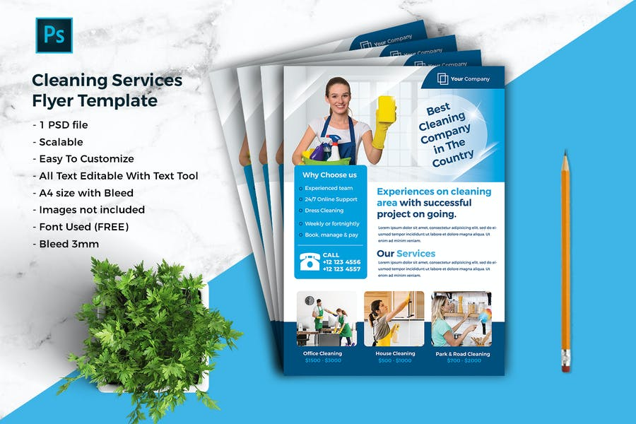 Cleaning Services Flyer Template vol-03