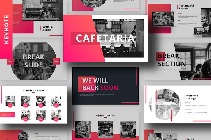 Thumbnail for Cafetaria - Business Keynote Template