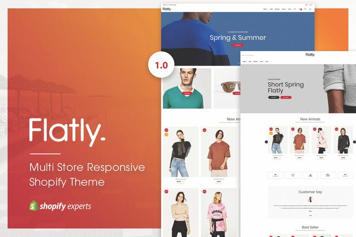 Cover Image For Flatly | Multi Store Responsive Shopify Theme