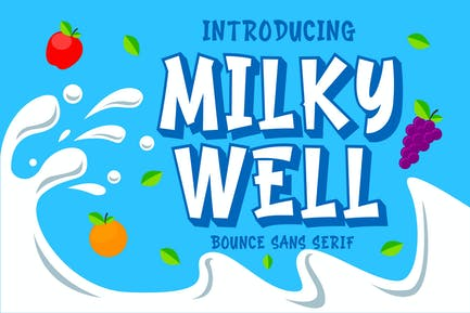 Milkywell - Bounce Sans Serif
