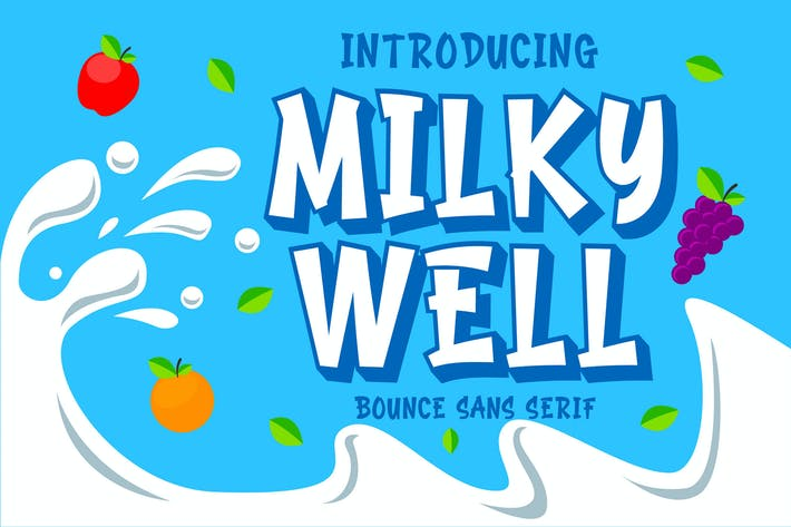 Thumbnail for Milkywell - Bounce Sans Serif