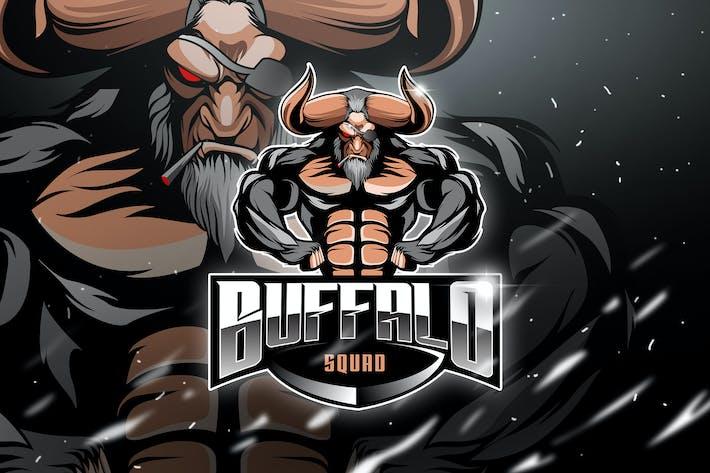 Thumbnail for Bufallo Squad - Mascot & Esport Logo