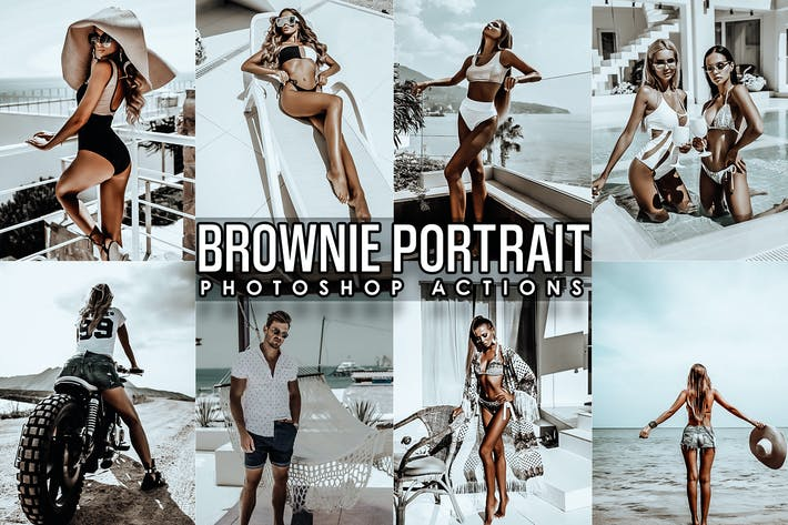 Thumbnail for Brownie Portrait Photoshop Actions